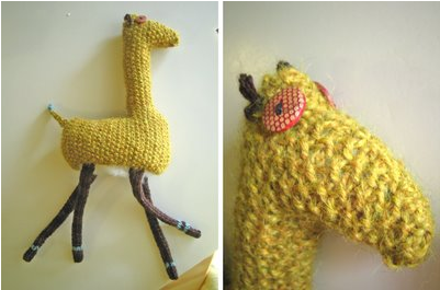 knitted giraffe