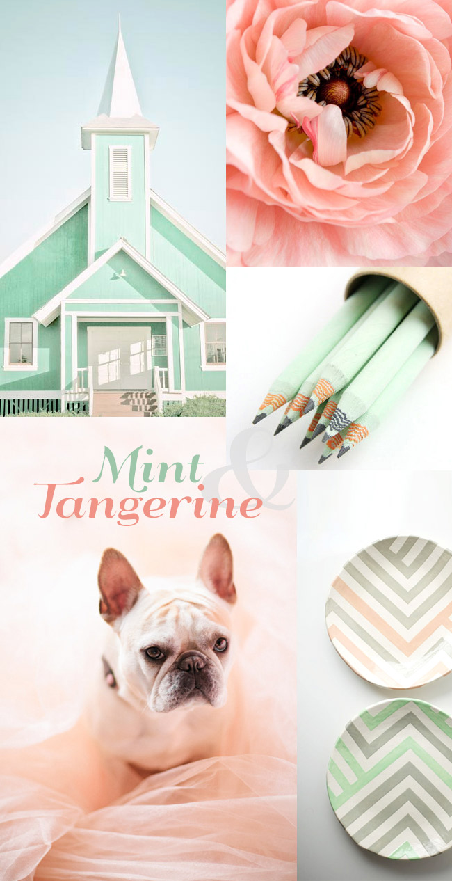 Mint and tangerine