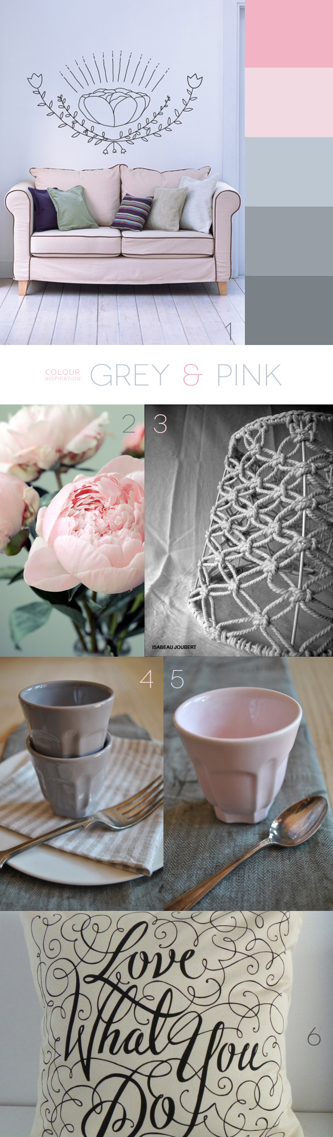 Grey & Pink Colour Inspiration