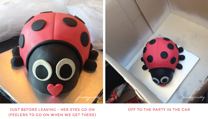 Making Ladybird Cake - Pretty Pretty