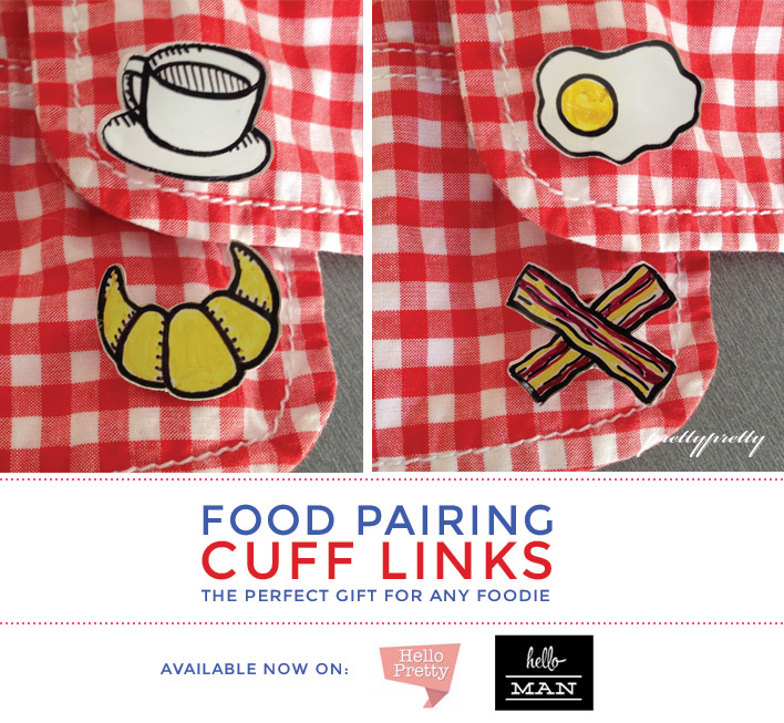 Food Pairing Cufflinks