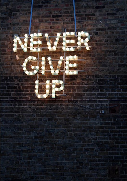 Never Give Up - Wise Words