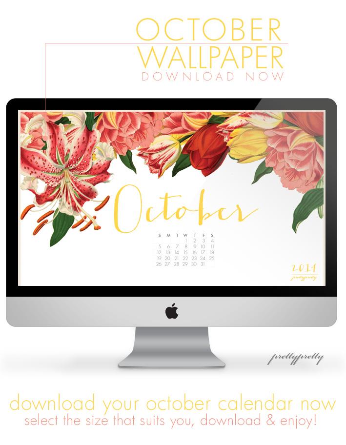 October Wallpaper Calender