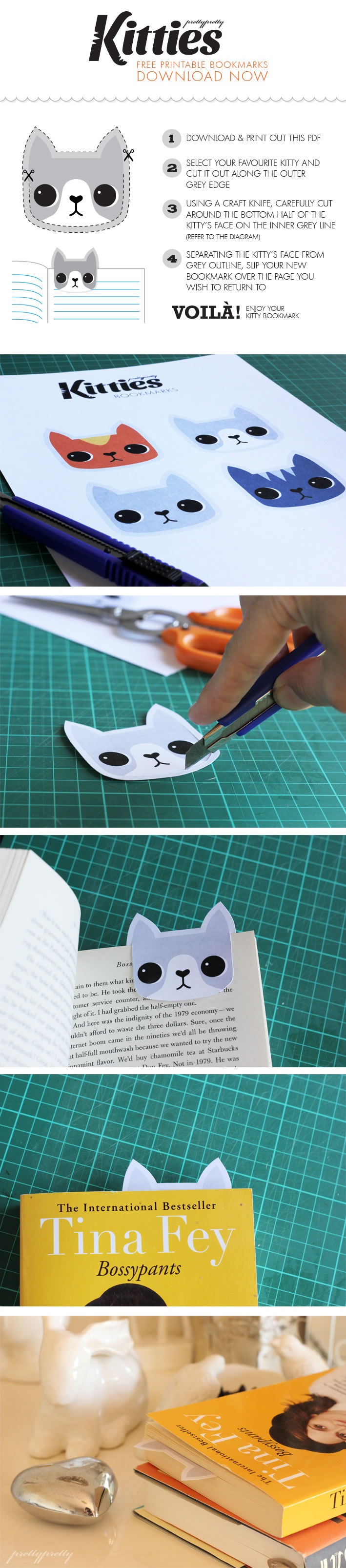 Make your own free downloadable bookmarks